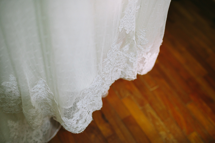 the wedding gown