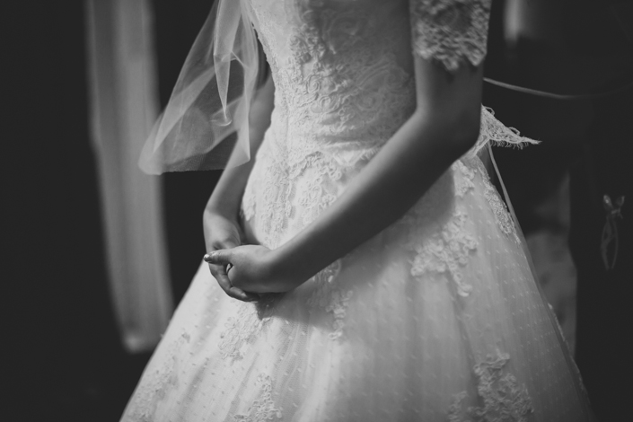 the beautiful wedding gown