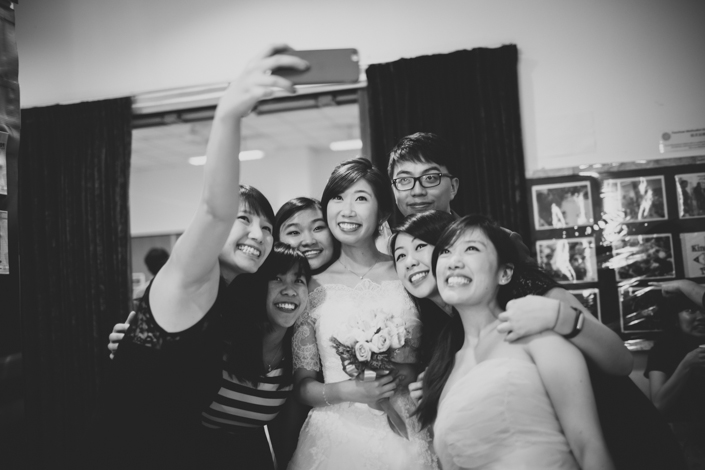 wefie at the wedding
