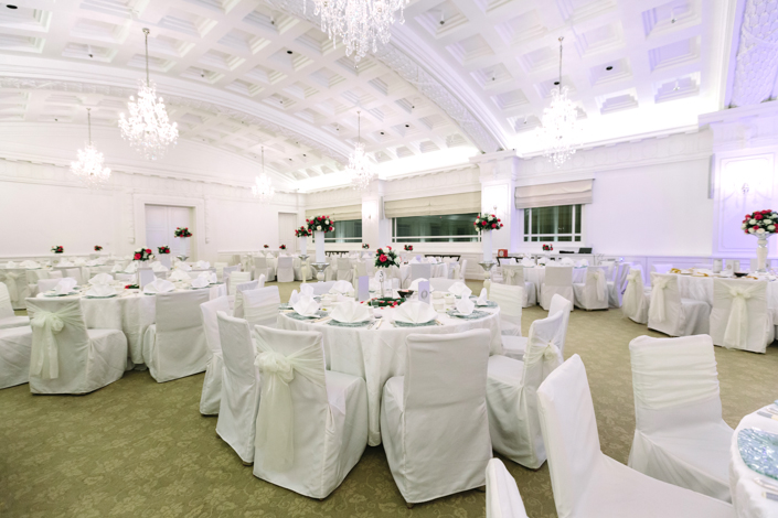 wedding banquet at the straits room fullerton hotel singapore