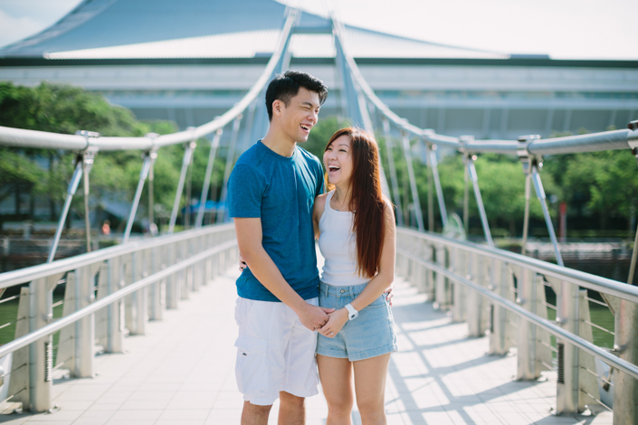 pre-wedding at the singapore sports hub