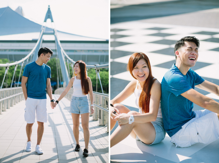 outdoor shoot at the singapore sports hub