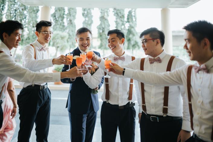 groom and his groomsmen singapore wedding