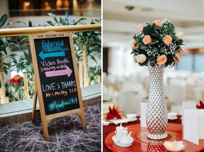 marina mandarin banquet table setup