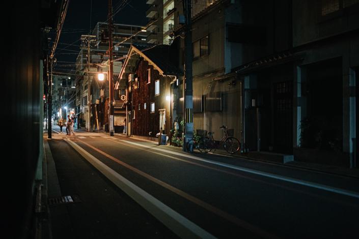 kyoto street at night