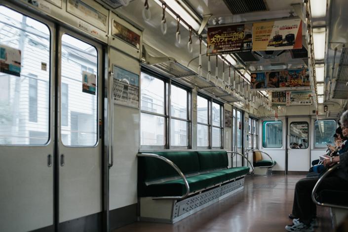 taking train to fushimi inari
