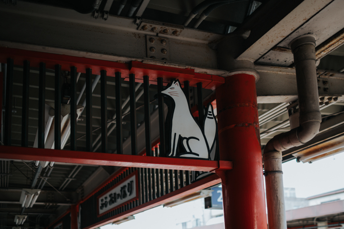 fox at fushimi inari station kyoto