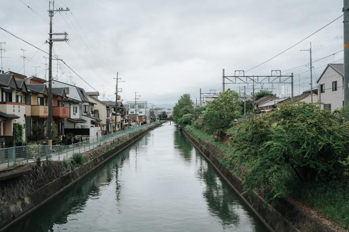 river outside fushimi inari station