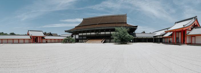 shishinden palace in kyoto