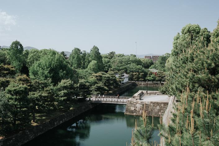 view from nijo castle kyoto