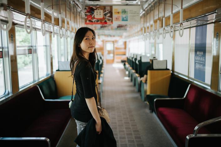 train to arashiyama