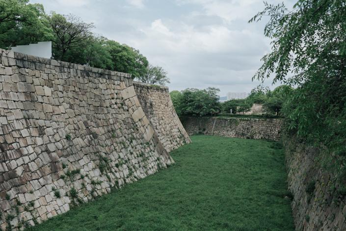 outside osaka castle