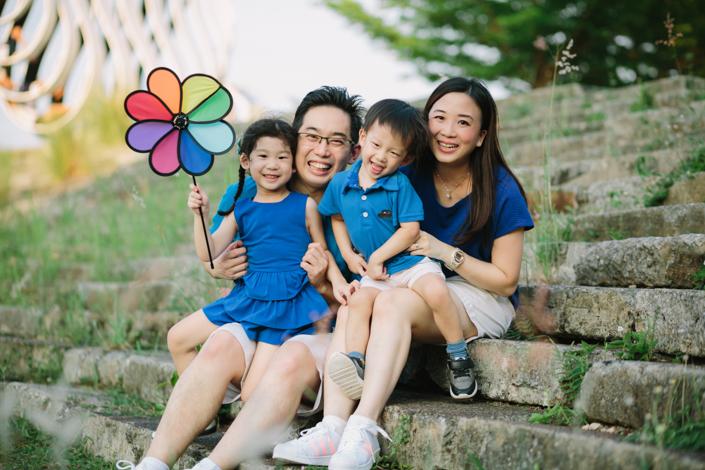 family photo at bishan park
