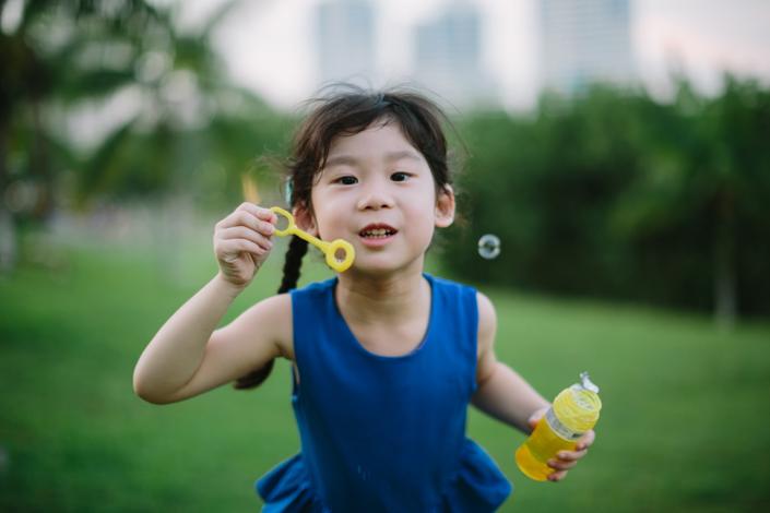 fun with bubbles at bishan park